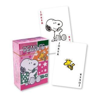 【スヌーピー】ミニトランプ・ピンク【小さくてカワイイ】(トランプ/UNO)