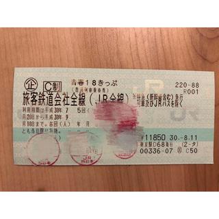ジェイアール(JR)の青春18きっぷ 切符 1回(鉄道乗車券)