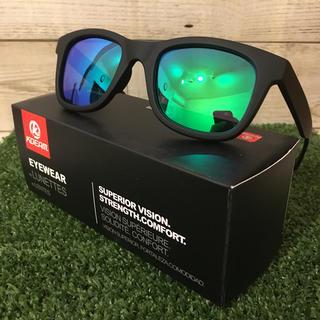 ウェリントン  新品 偏光サングラス グリーン ミラーレンズ UV400