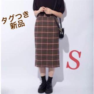 GU - 新品タグつき!チェックナローミディスカート