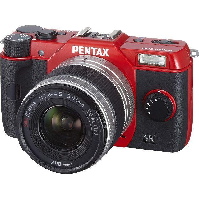 PENTAX(ペンタックス)の◆PENTAX Q10 ズームレンズキット [レッド]新品 スマホ/家電/カメラのカメラ(ミラーレス一眼)の商品写真