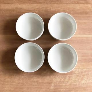 MUJI (無印良品) - 無印良品 白磁浅鉢・小 4枚セット