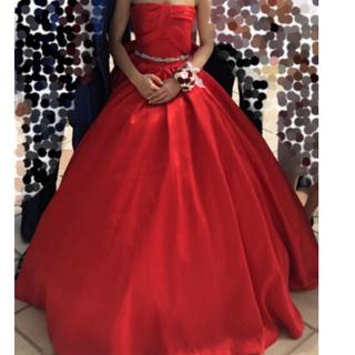 結婚式、演奏会等カラードレス赤