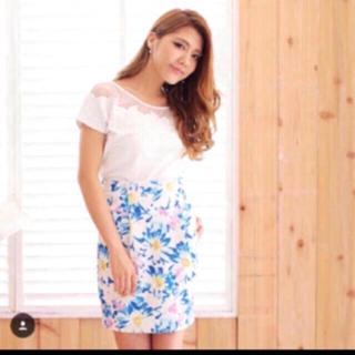 rienda - rienda 花柄タイトスカート