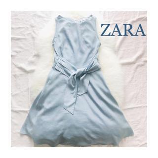 ZARA - ♡ZARA ザラ アイスブルー フレア ワンピース♡