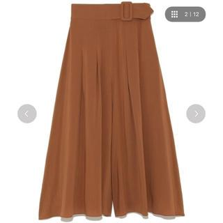 Mila Owen - ミラオーウェン ベルト付きスカート風ワイドパンツ