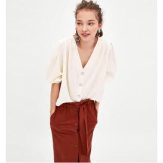 ザラ(ZARA)のZARA コントラストカラーボタン付きシャツ(シャツ/ブラウス(半袖/袖なし))