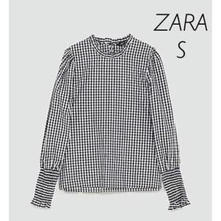 ZARA - 【新品・未使用】ZARA ギンガムチェック柄 ブラウス Sサイズ
