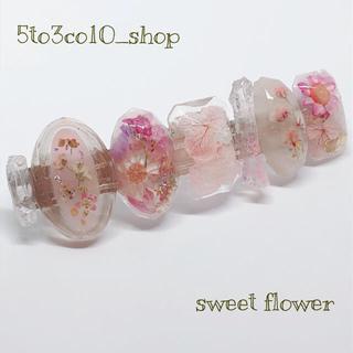 No.123 sweet flower バレッタ