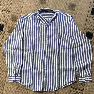 ジーユー(GU)のストライプリネンシャツ 長袖(シャツ)