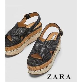 ZARA - ZARA ウェッジソールサンダル