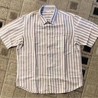 ジーユー(GU)のストライプリネンシャツ 半袖(シャツ)