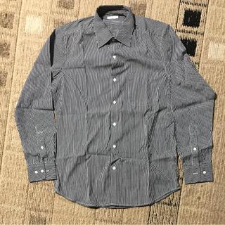 ジーユー(GU)のキレイめストライプシャツ 長袖(シャツ)