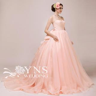 YNS ウエディング カラードレス サーモンピンク