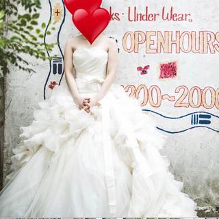 ヴェラウォン(Vera Wang)のフラワーさん白ヘイリー 9/15 専用(ウェディングドレス)