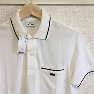 ラコステ(LACOSTE)の新品タグ付き【 LACOSTE 】半袖 ポロシャツ ホワイト×ネイビー(ポロシャツ)