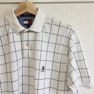 トミーヒルフィガー(TOMMY HILFIGER)の美品【 TOMMY HILFIGER 】90s グラフチェック 半袖 ポロシャツ(ポロシャツ)