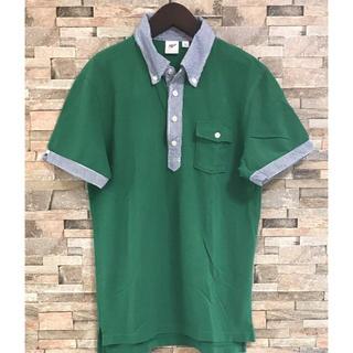 ユニクロ  ユニセックス ポロシャツ  グリーン L(ポロシャツ)