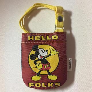 ディズニー(Disney)のディズニー ミッキー折りたたみ携帯用ケース未使用新品、廃盤終売品です(その他)
