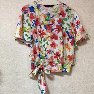 ザラ(ZARA)のZARA ベーシック 花柄シャツ(シャツ/ブラウス(半袖/袖なし))