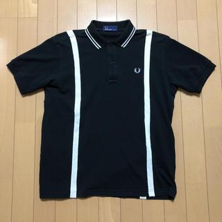 フレッドペリー(FRED PERRY)のフレッドペリー サスペンダー柄 ポロシャツ M 黒×白 BEAMS別注(ポロシャツ)