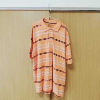 美品!FOUNDRY コットン ボーダー ポロシャツ(ポロシャツ)