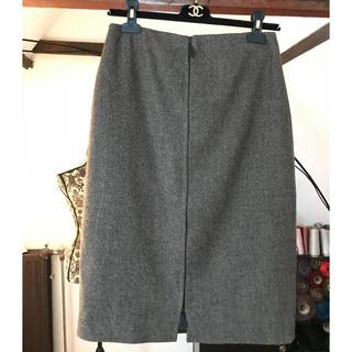 エルメス(Hermes)のHERMES マルジェラ 新品同様 ツイードミディ丈スカート 000001(ロングスカート)