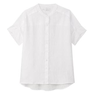 MUJI (無印良品) - 新品  無印良品  フレンチリネン洗いざらしワイド半袖シャツ