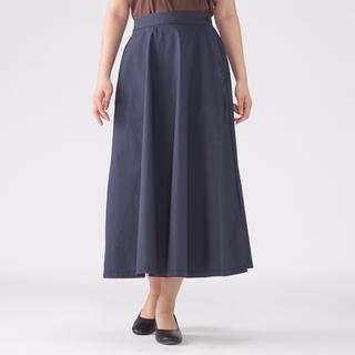 MUJI (無印良品) - 綿混ダンプイージーフレアースカート