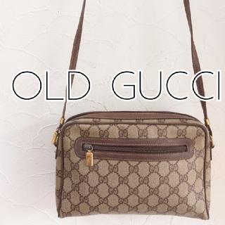 Gucci - 希少 オールドグッチ GG柄 ビンテージショルダーバッグ レトロ 正規品