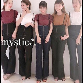 mystic - 新作⁂¥9612【mystic】スーパーハイウエストデニムサロペットデニムパンツ