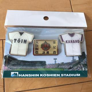 第100回全国高校野球選手権記念大会 決勝ピンバッヂセット(記念品/関連グッズ)