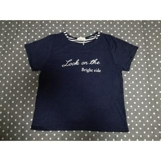 シマムラ(しまむら)のTシャツ ネイビー 3L(Tシャツ(半袖/袖なし))