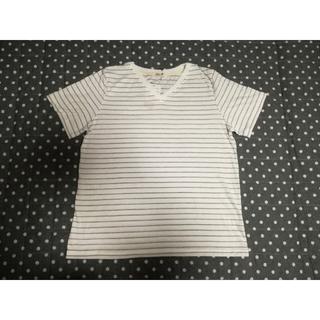 シマムラ(しまむら)のボーダー Vネック Tシャツ  LL(Tシャツ(半袖/袖なし))
