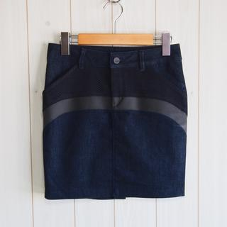 チャラヤン(CHALAYAN)のチャラヤン×mavi jeans コラボ タイトデニムスカート(ミニスカート)