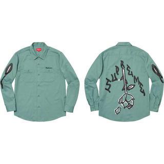 Supreme - Rose L/S Work Shirt   Lサイズ