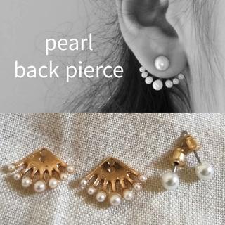 ザラ(ZARA)の【 summer sale 】 pearl back pierce* (ピアス)