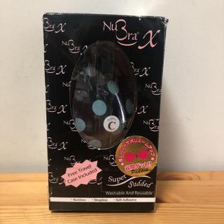 NuBra X パテッド ヌーブラ ドット ブラック ブルー Cサイズ 最安値(ヌーブラ)