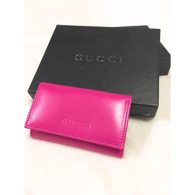 95dab13e8ebd Gucci - 【超美品】GUCCI キーケース ピンク の通販 by M|グッチならラクマ