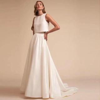 Vera Wang - バックリボン セパレートサテンドレス