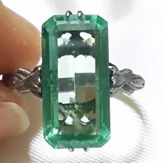 鑑定済みミントグリーンスピネル  サンプラチナリング(リング(指輪))