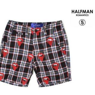 ハーフマン(HALFMAN)のHALFMAN ハーフマン リップガーゼチェックハーフパンツ ショートパンツS(ショートパンツ)