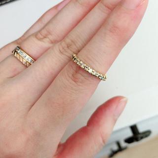ゆーゆ様専用になります。ブラウンダイヤ k18 エタニティーリング(リング(指輪))
