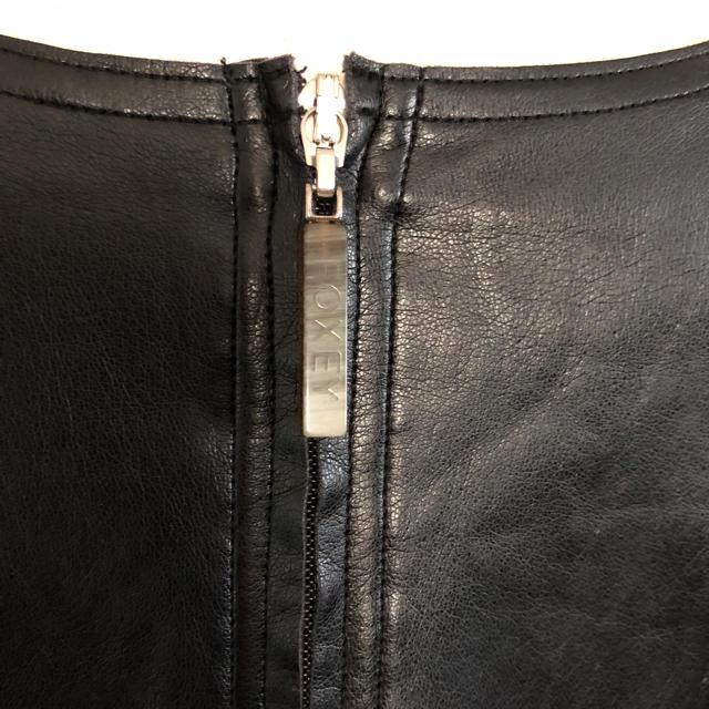 FOXEY(フォクシー)のFOXEY NY  ストレッチレザー レディースのジャケット/アウター(ノーカラージャケット)の商品写真