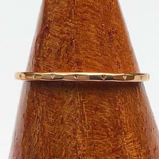 18kgpハート模様のリング(ピンクゴールド)(リング(指輪))