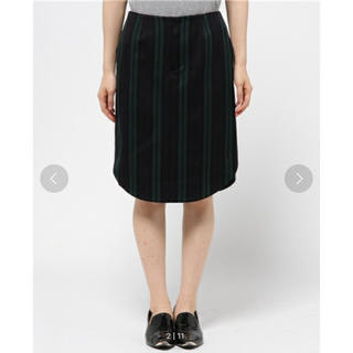 サカヨリ(sakayori)のウールレジメンタルストライプスカート(ひざ丈スカート)