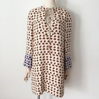 デレクラム(DEREK LAM)のDEREK  LAM 幾何学模様ドレス(ひざ丈ワンピース)