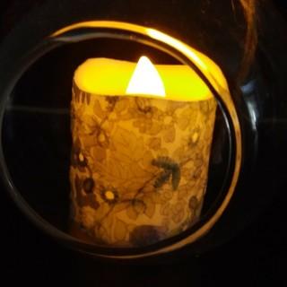 リバティ柄 LEDキャンドルライト ⑭(アロマ/キャンドル)