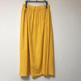 ノーティー(Naughty)のノーティードッグ カラースカート イエロー系(ロングスカート)