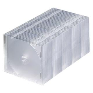 1枚収納×50 スリムBD DVD CDケース クリア(その他)